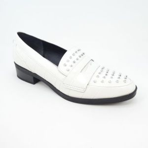 Circus Sam Edelemen Studded White Leather Loafers